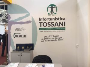 Stand Tossani Tanexpo, Infortunistica Tossani