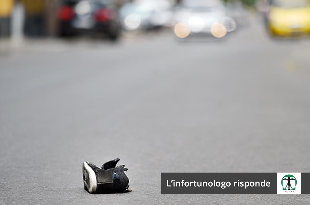 Scarpa sulla strada articolo blog, Infortunistica Tossani