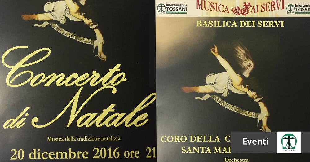 locandina concerto di Natale 2016 articolo blog, Infortunistica Tossani