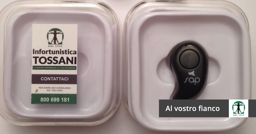 Auricolari sap articolo blog, Infortunistica Tossani