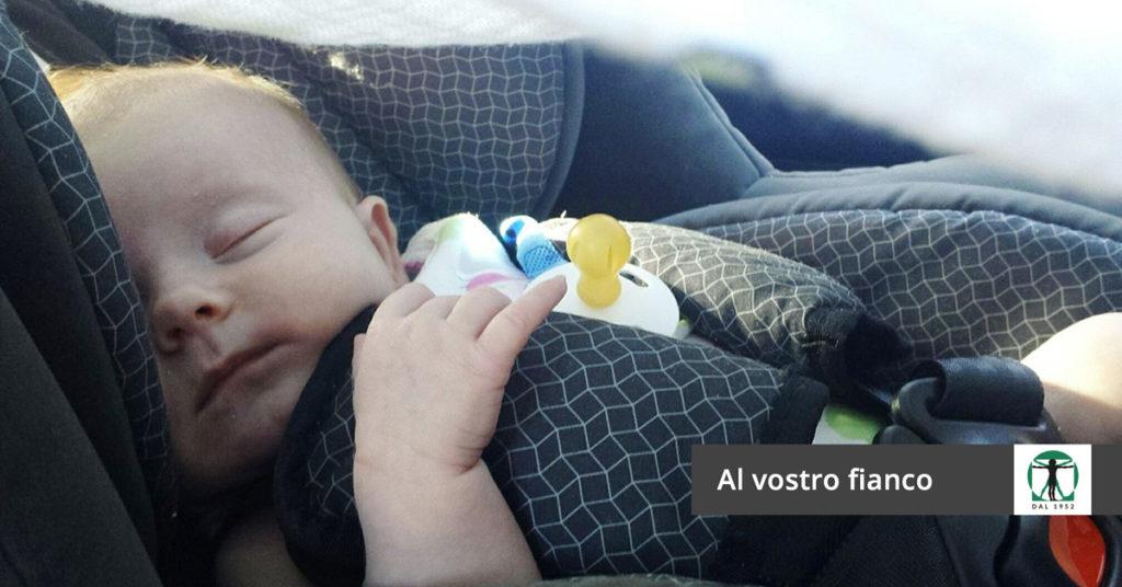 Bimbo in auto che dorme, Infortunistica Tossani
