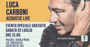 locandina concerto Luca Carboni, Infortunistica Tossani