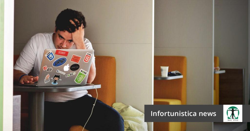 uomo al computer, Infortunistica Tossani