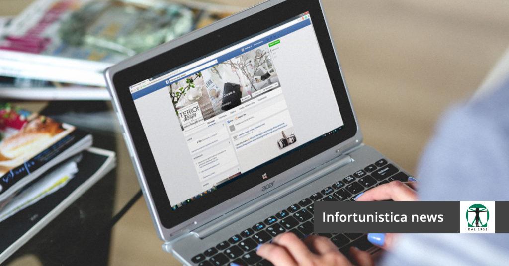 schermata della bacheca di Facebook, Infortunistica Tossani