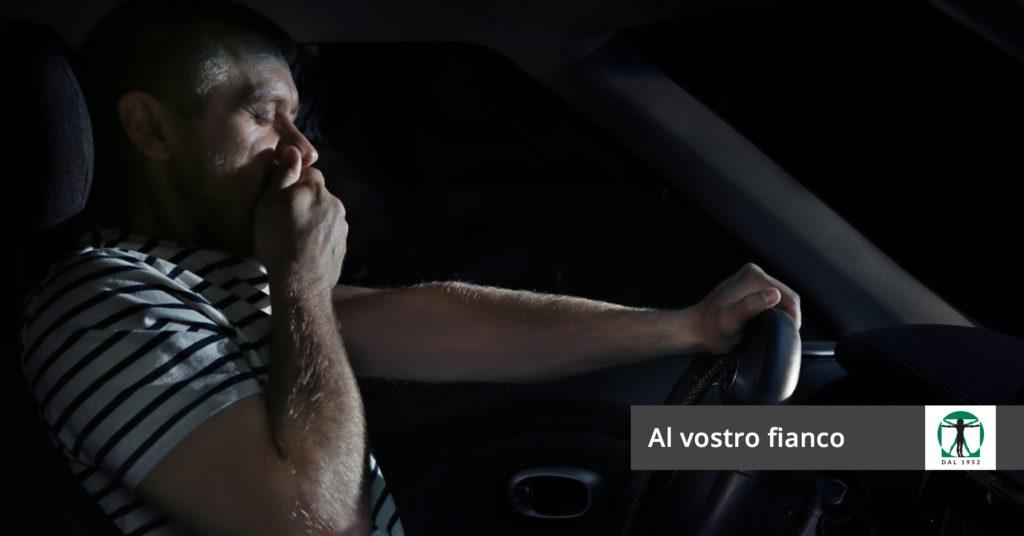 uomo assonnato alla guida, Infortunistica Tossani