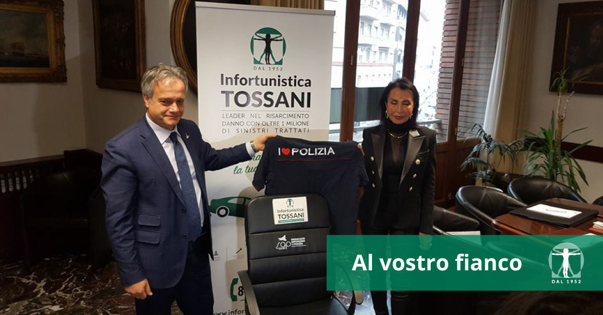 Infortunistica Tossani dona 5 sedie da ufficio al SAP