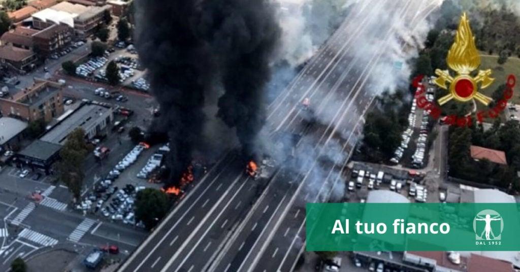Bologna, esplosione autocisterna 6 agosto 2018. Risarcimento danni, infortunistica tossani