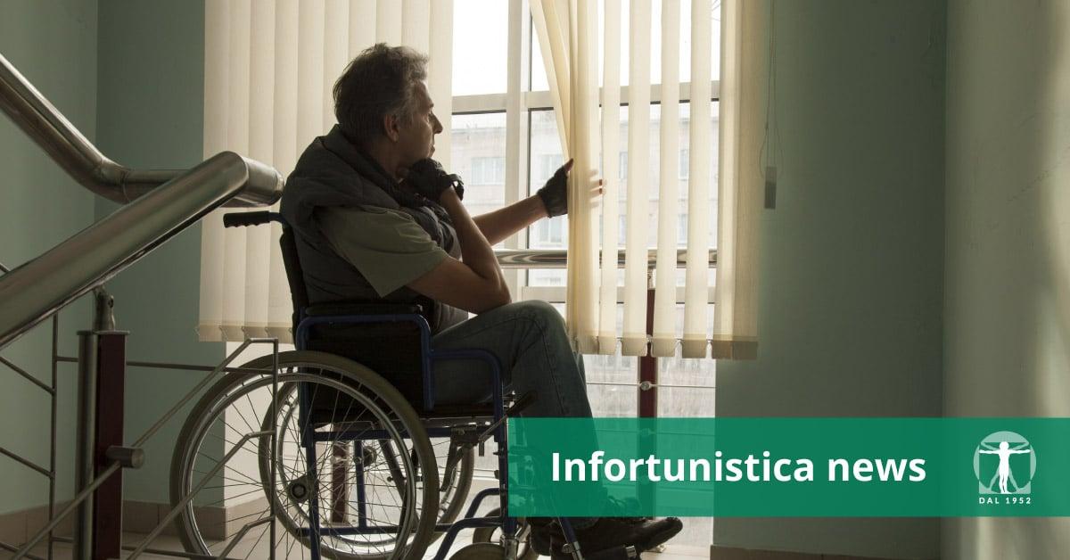 Uomo infermo su sedia a rotelle, Infortunistica Tossani