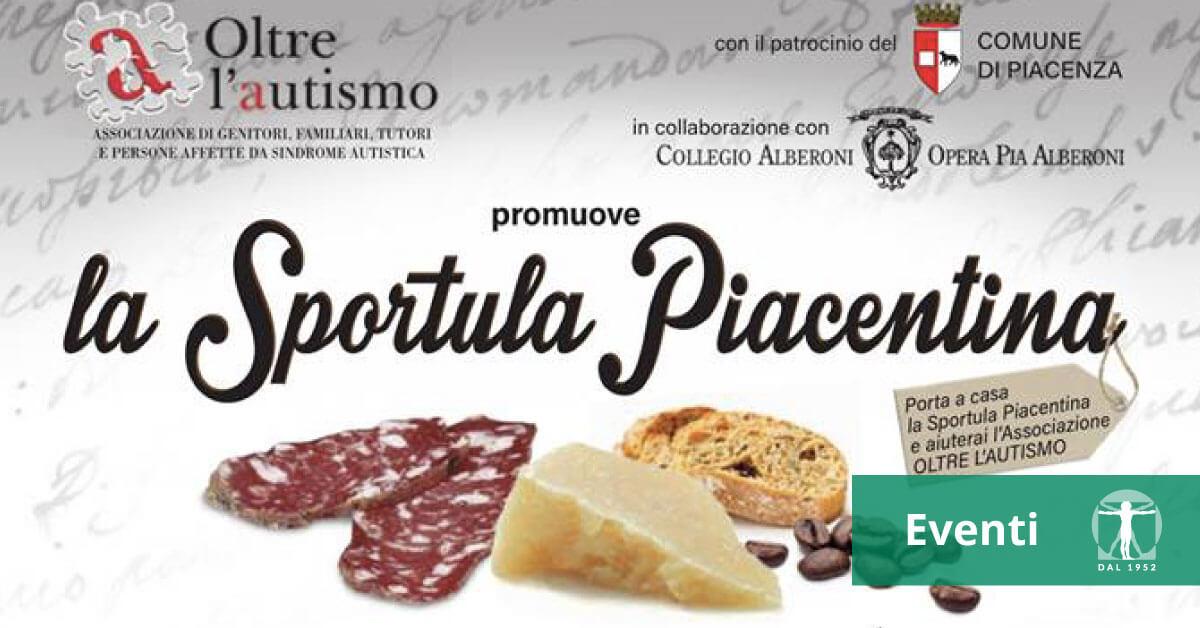 """Locandina evento di Oltre l'autismo """"La Sportula Piacentina"""", Infortunistica Tossani"""