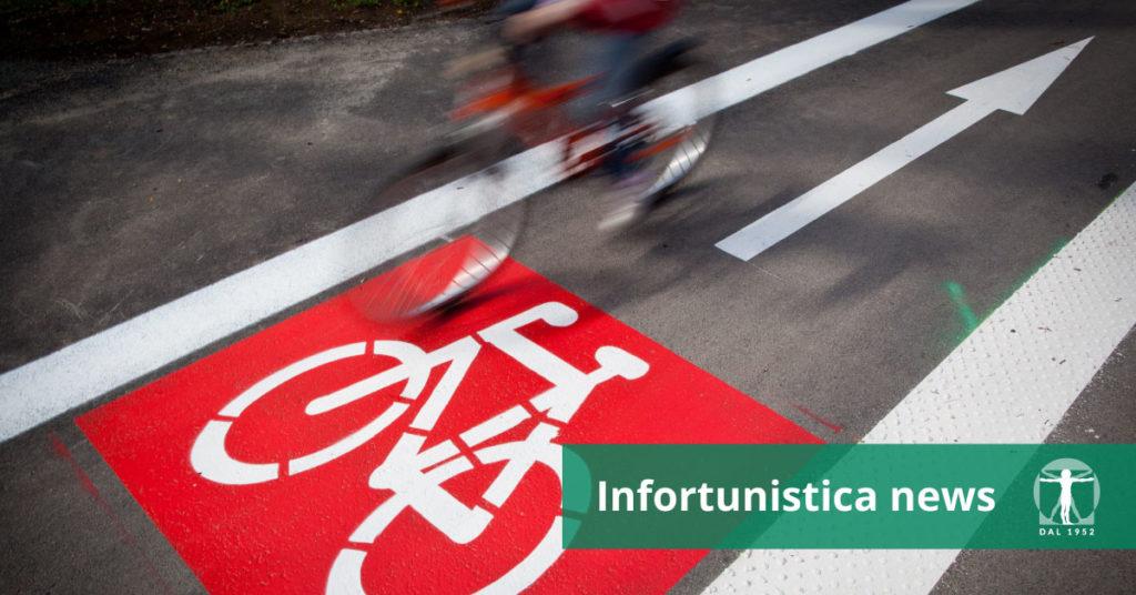 Pista ciclabile e ciclista in direzione opposta, Infortunistica Tossani