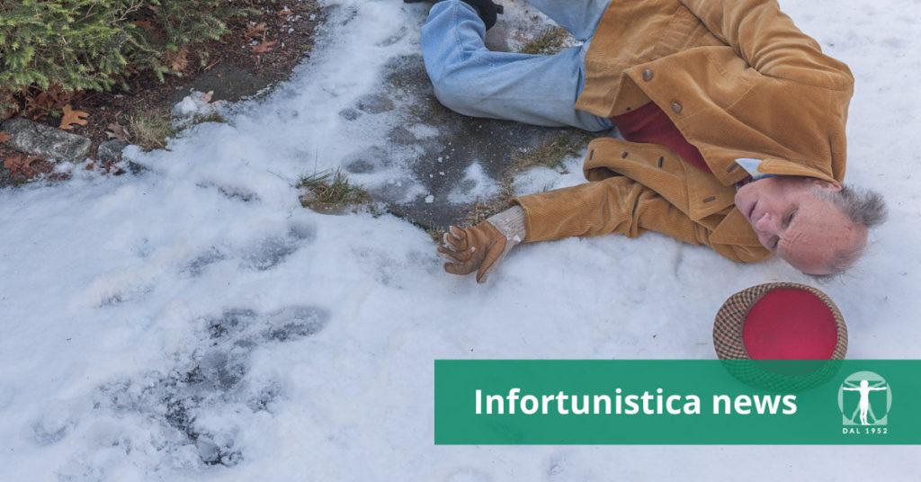 Anziano cade su una strada ghiacciata, Infortunistica Tossani