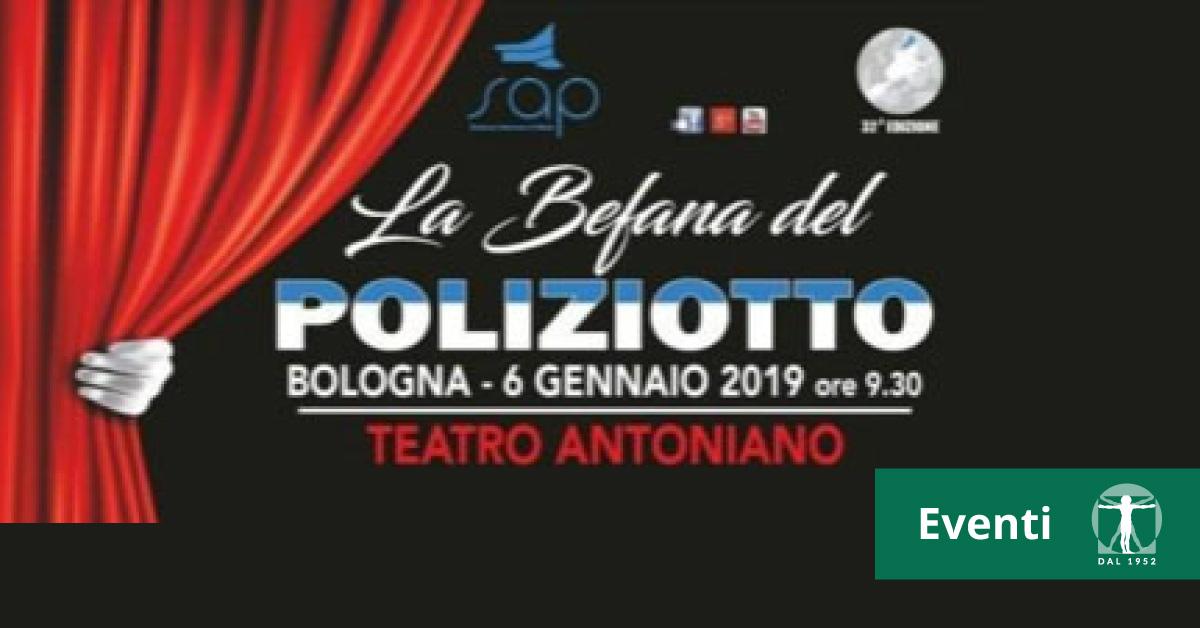Locandina Befana Poliziotto 2019, Infortunistica Tossani