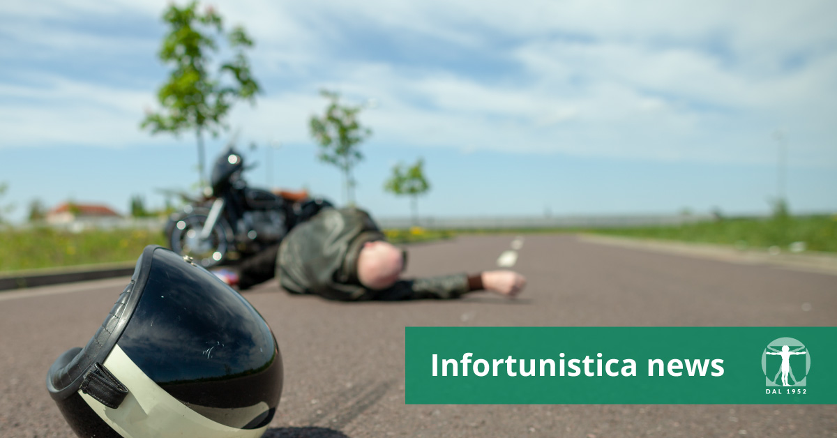 Motociclista a terra per incidente, Infortunistica Tossani