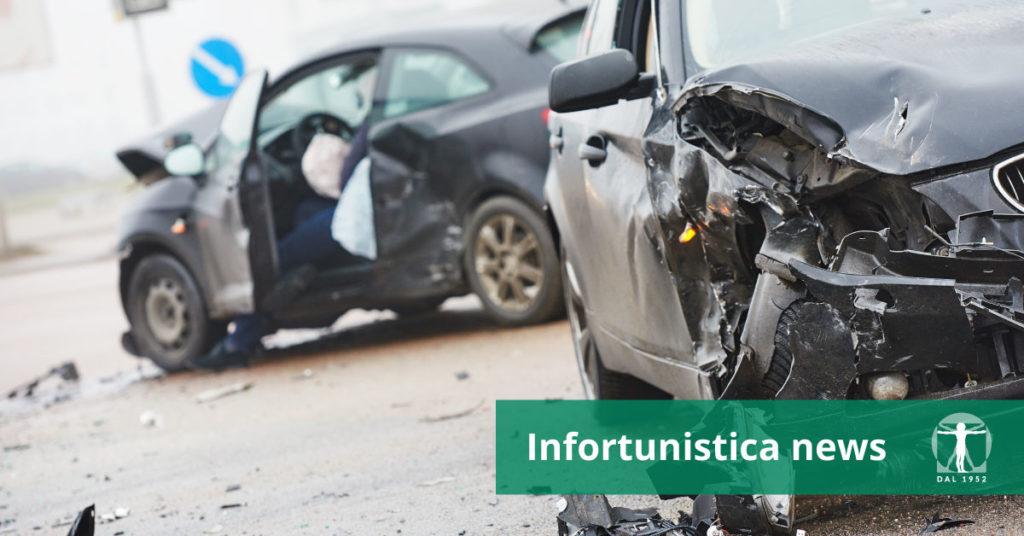 Sinistro stradale tra due macchine, Infortunistica Tossani