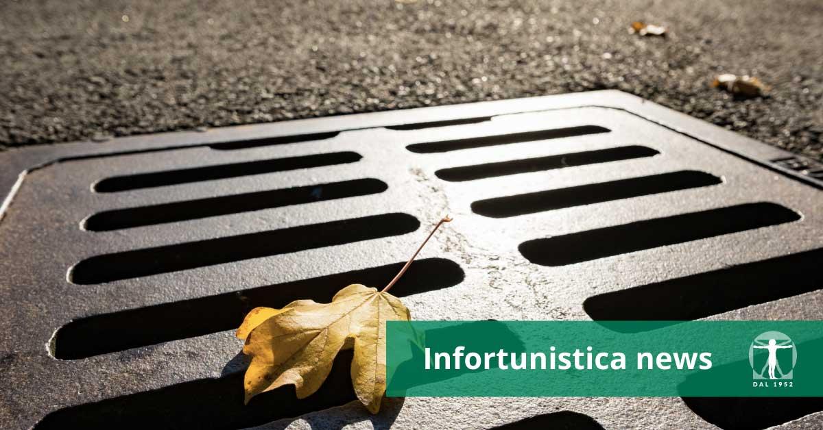 Tombino per strada, caduta - Infortunistica Tossani